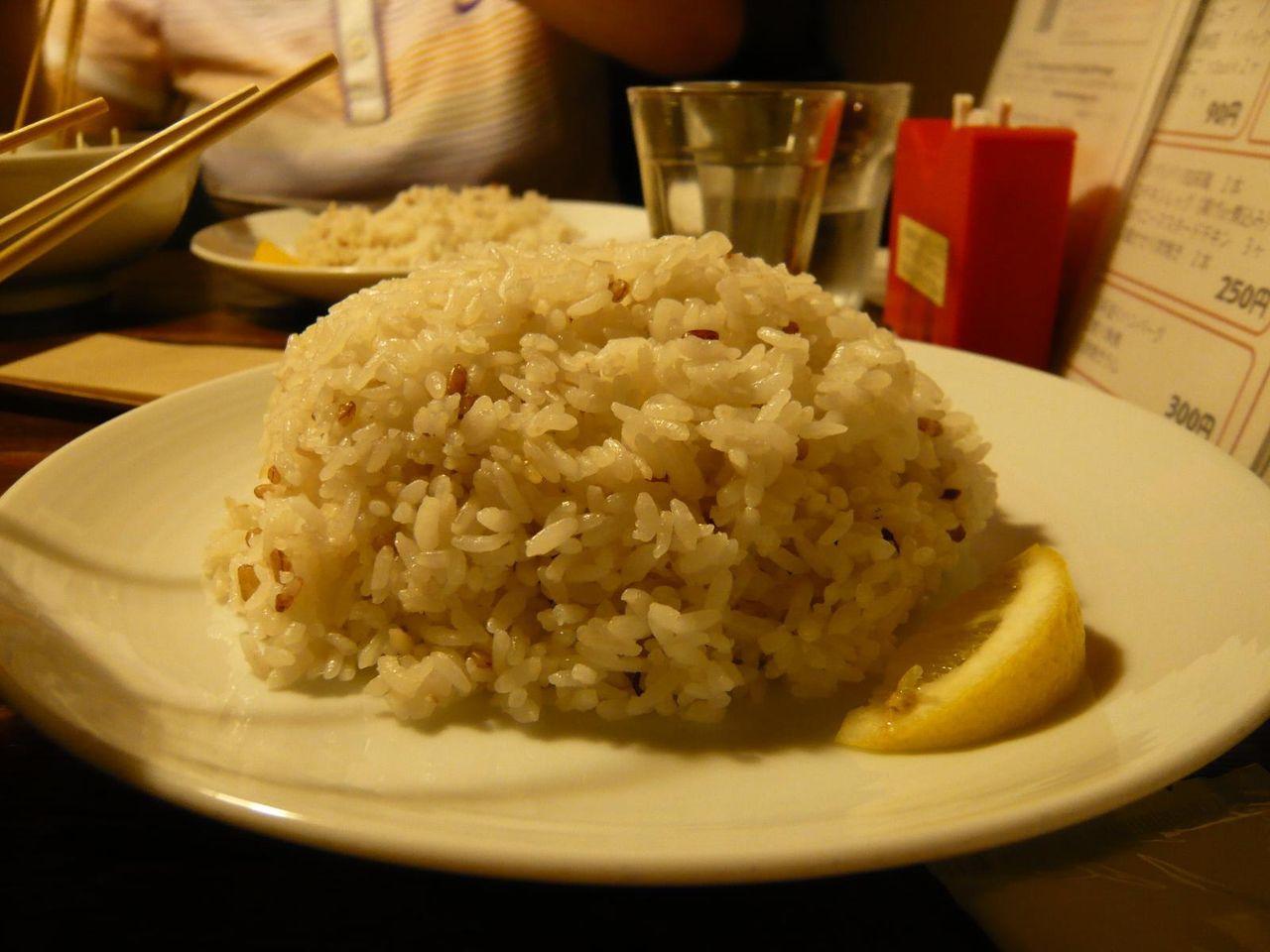 赤米を混ぜたライスは、スープカレーによく合います!