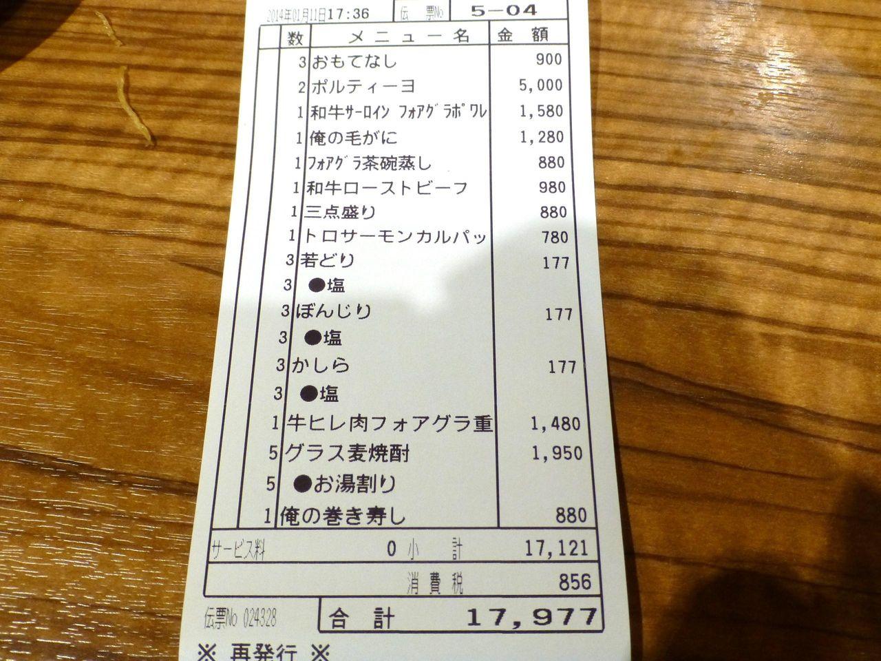 大人3人で17,977円(1人約6,000円)・・・まさに価格破壊だ!