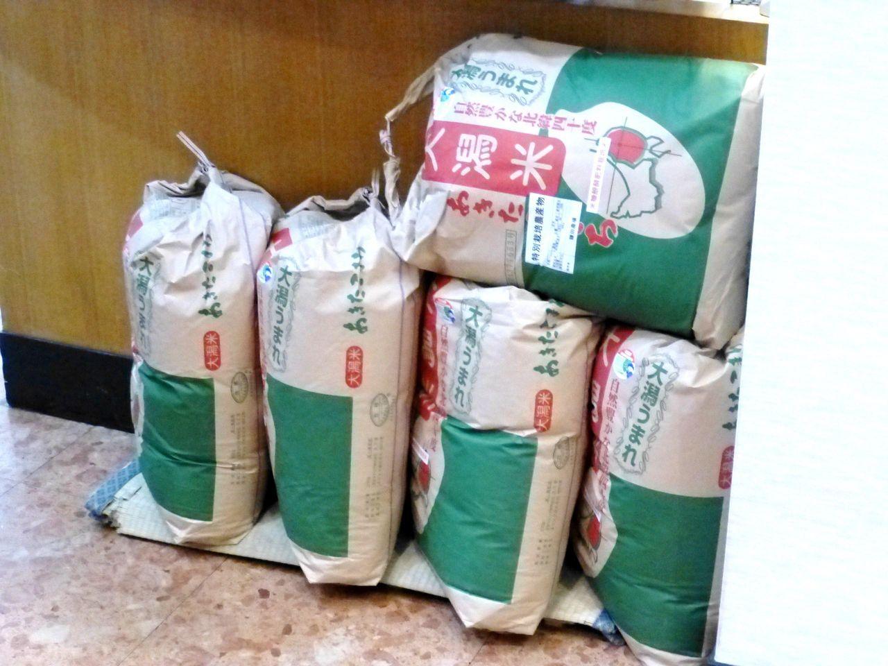 お米は、大潟産「あきたこまち」を使用!