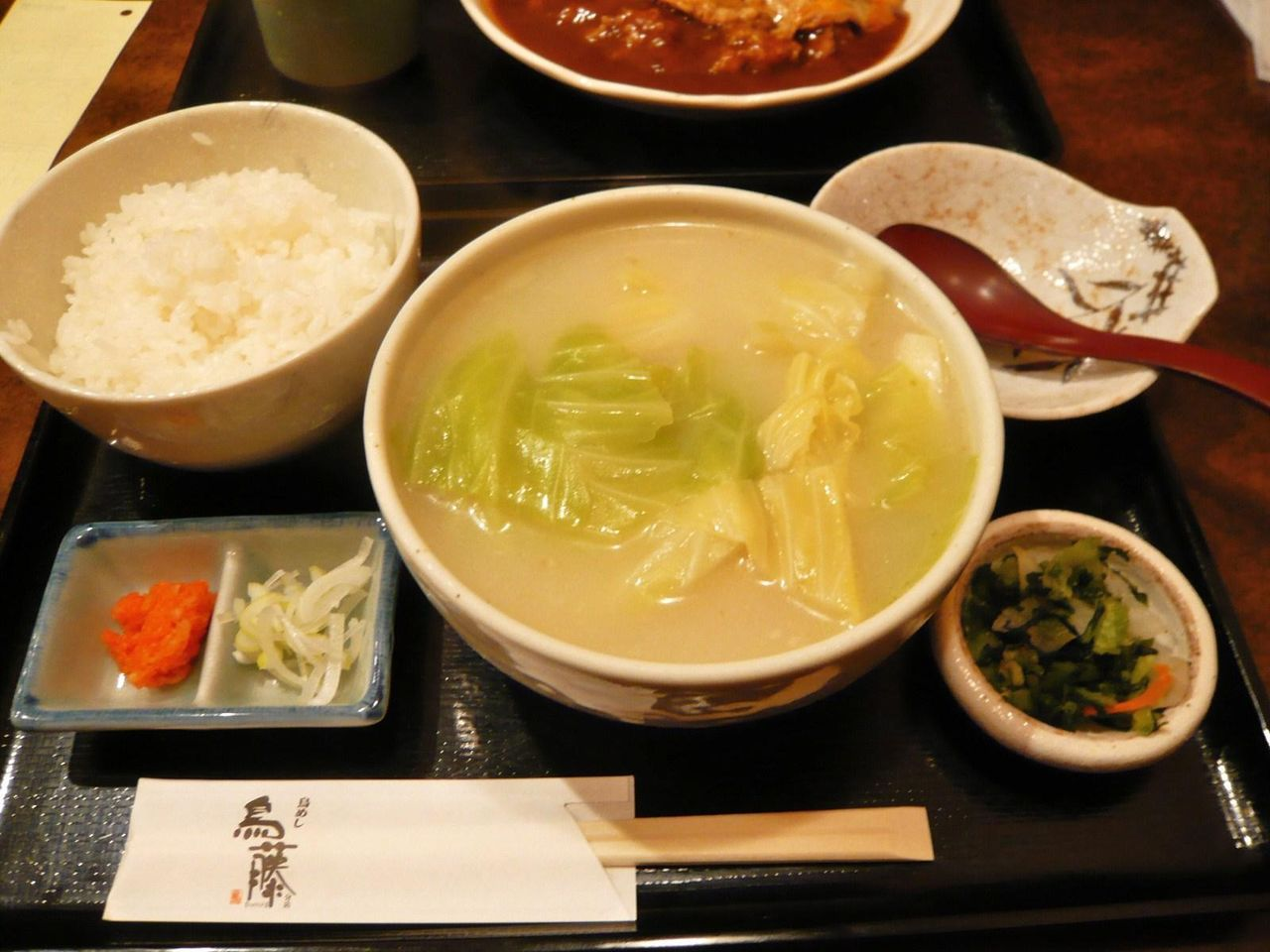 ライスを投入すれば鶏雑炊に!鳥藤分店の水炊き850円