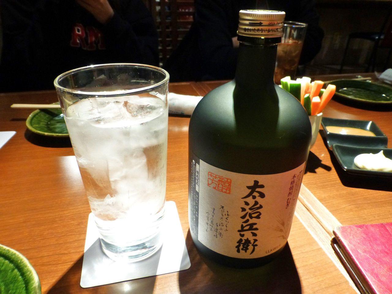 むぎ焼酎「太治兵衛」ボトル2,300円
