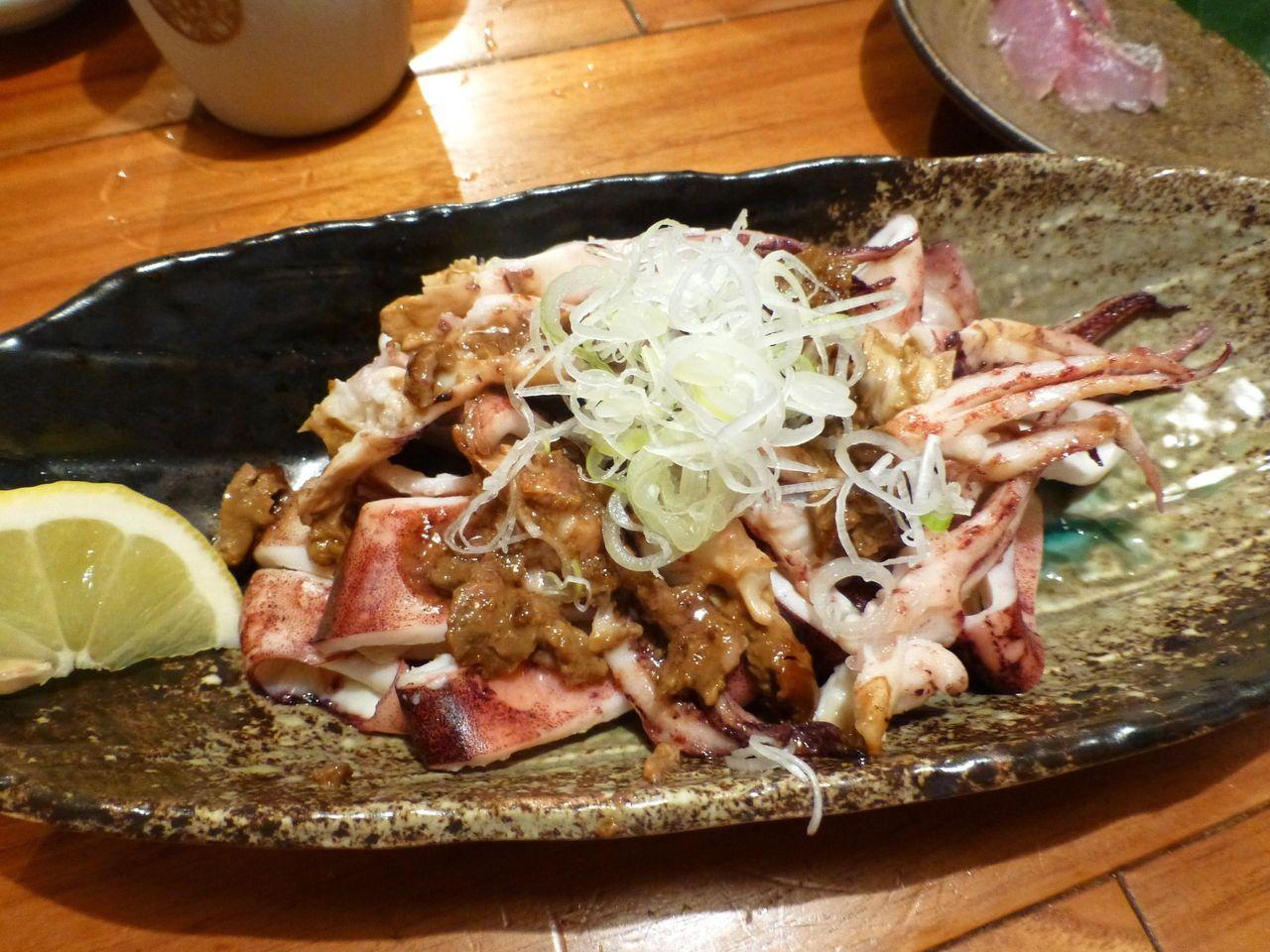 イカの肝焼き!日本酒が進みます!