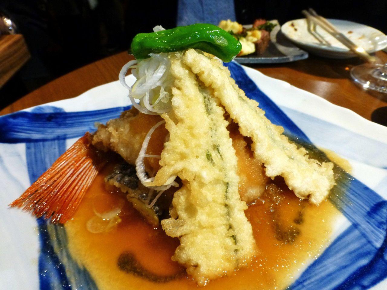 上品な創作料理!キンキの唐揚げ1,029円