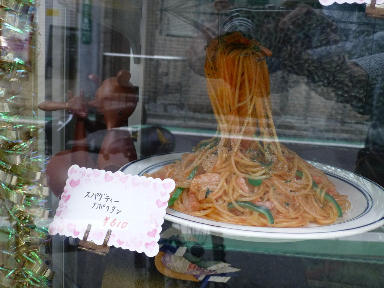 見るからに美味しそうなナポリタンのメニューサンプル!
