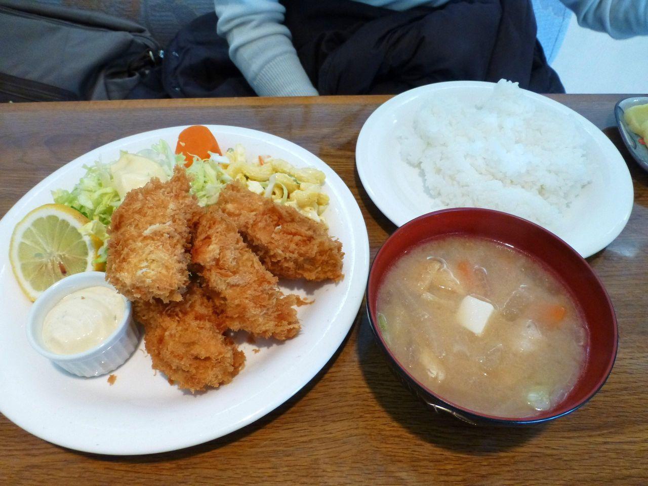 カキフライ定食1,000円