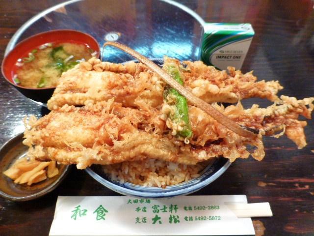 テレビで紹介された、大松の穴子天丼大盛1,575円