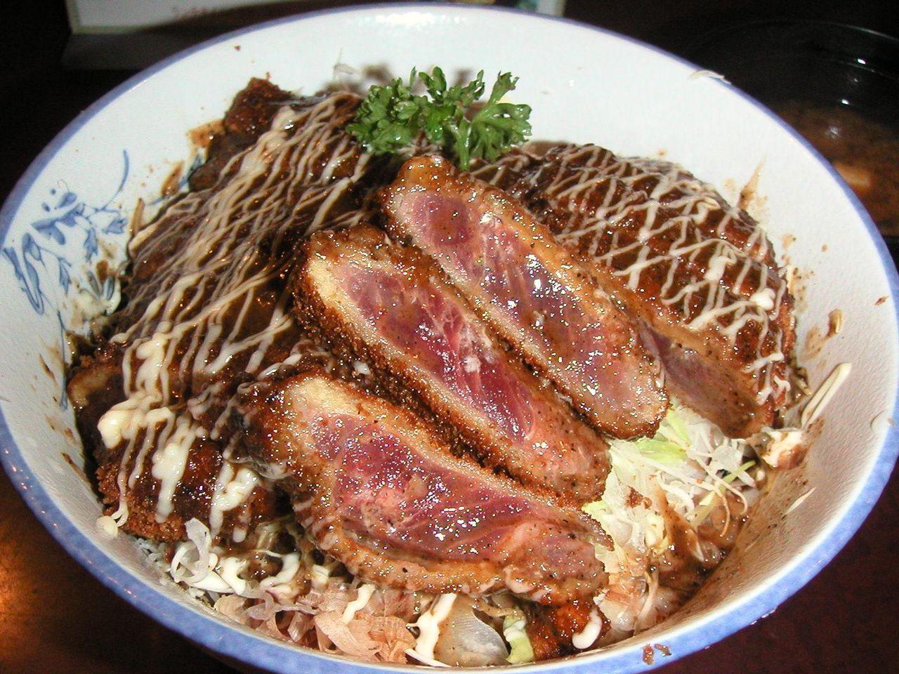 ランチのビーフソースカツ丼1,000円