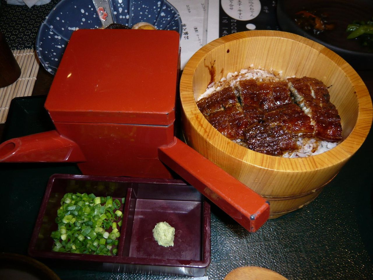 テレビで紹介された、お昼のひつまぶし1,050円