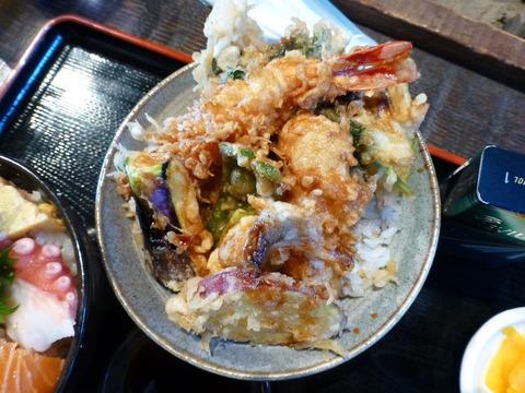 たかはん天丼(小)と海鮮丼(小)セット2