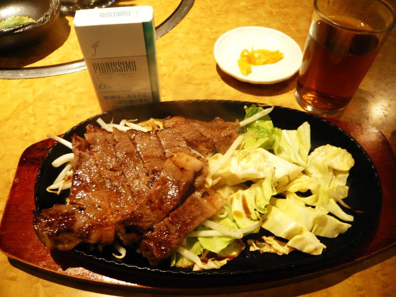 黒毛和牛A5のサーロインステーキランチ500円!