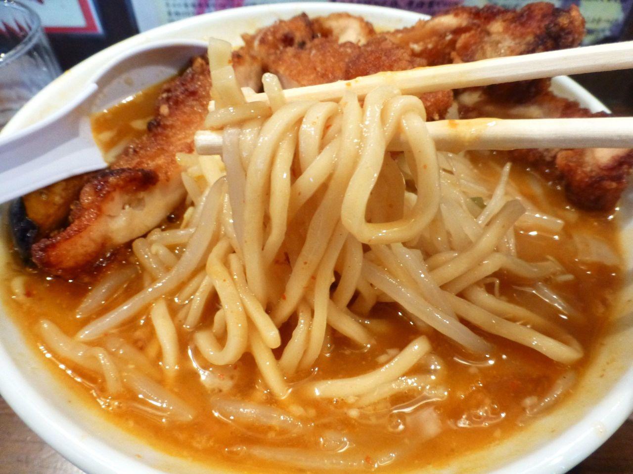 やわらかめのストレート麺!