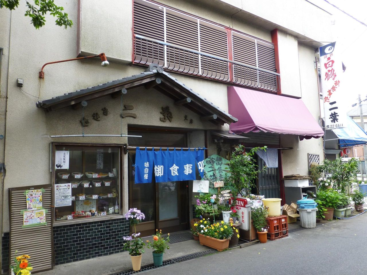 年季の入った蕎麦屋という雰囲気の店構え!