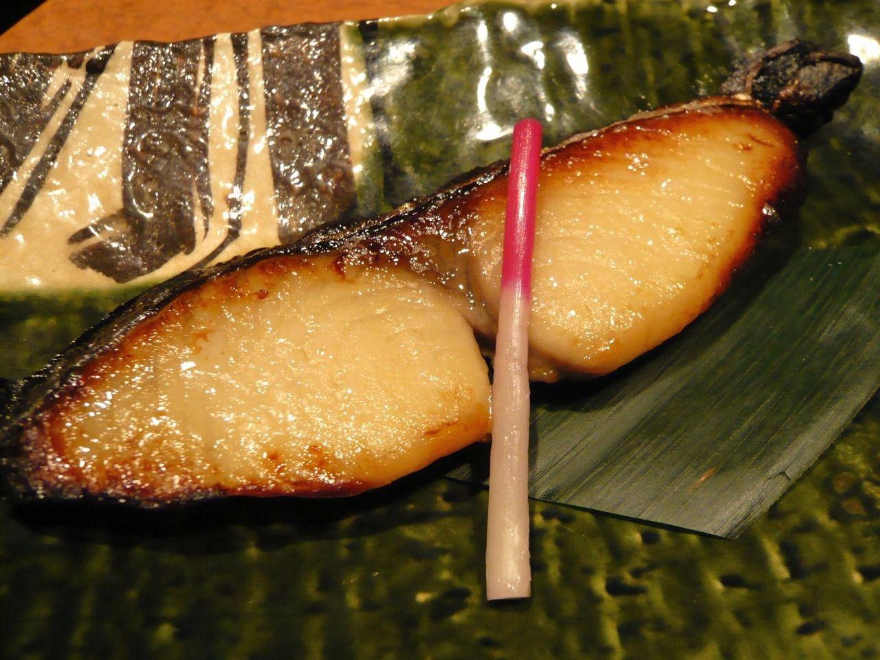脂がのってとても旨い、サワラ西京焼き680円