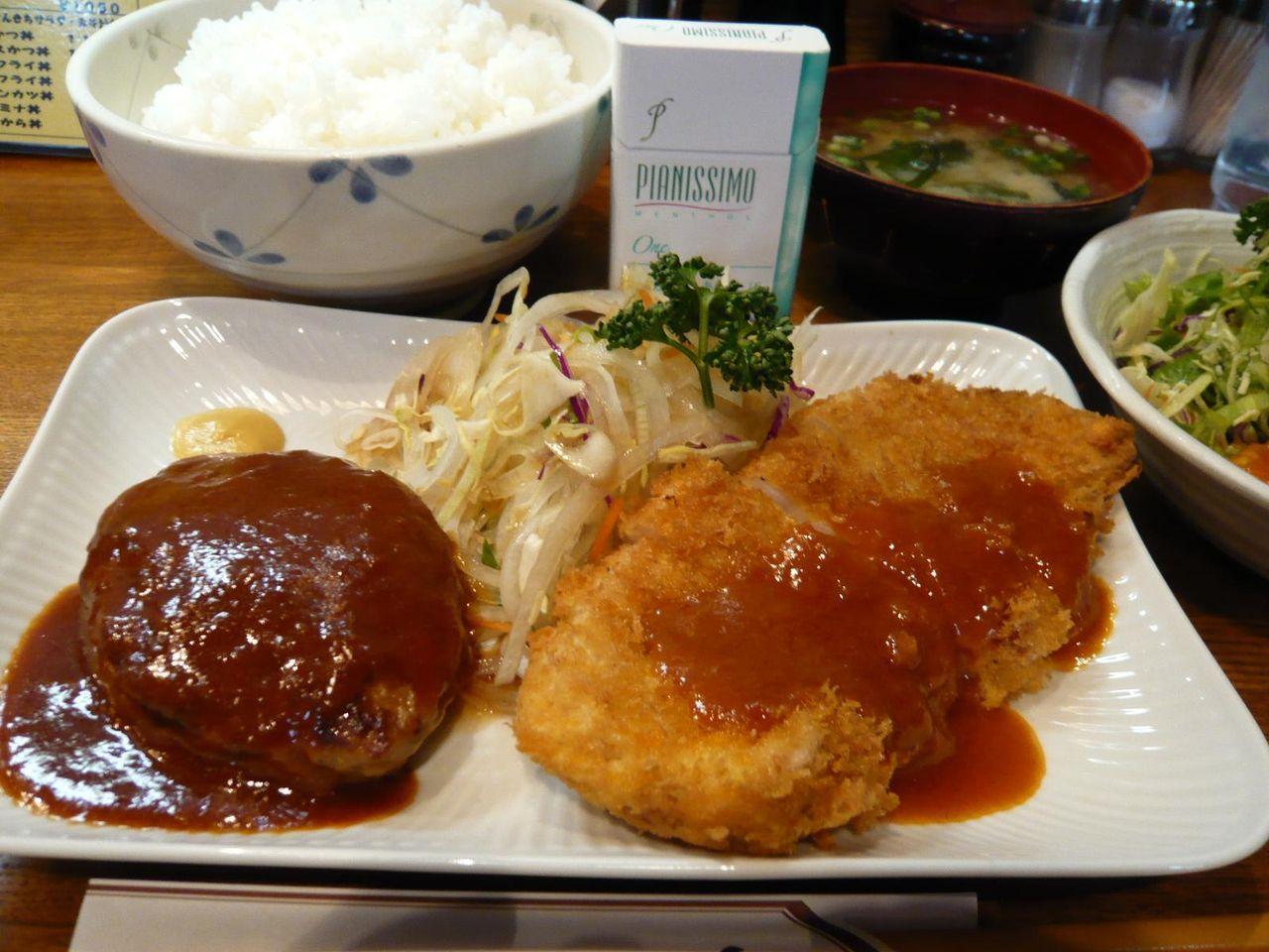 ガッツリ食べて満足度の高い「さんきち」のセットメニュー!