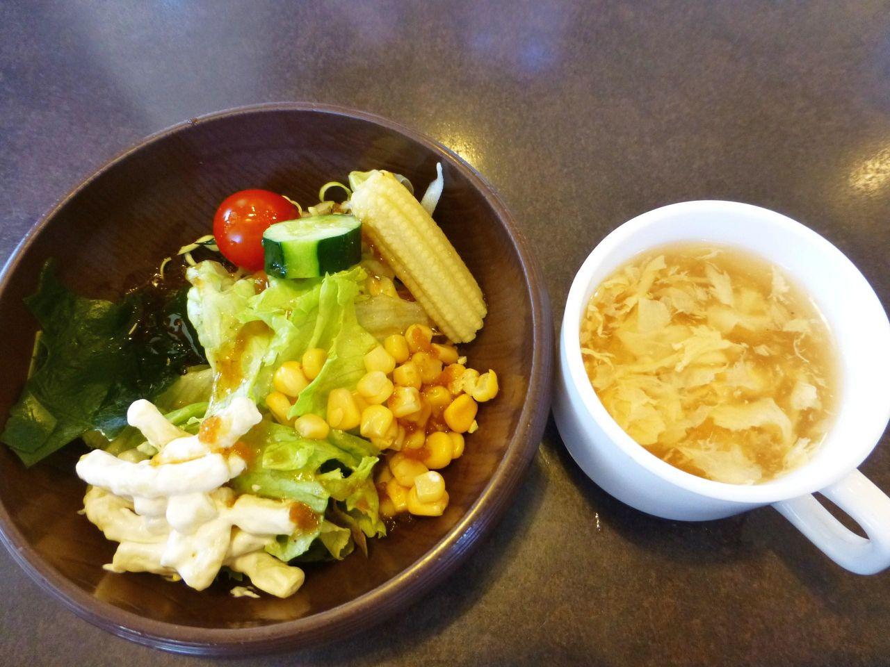 サラダバー・スープも全品食べ放題!