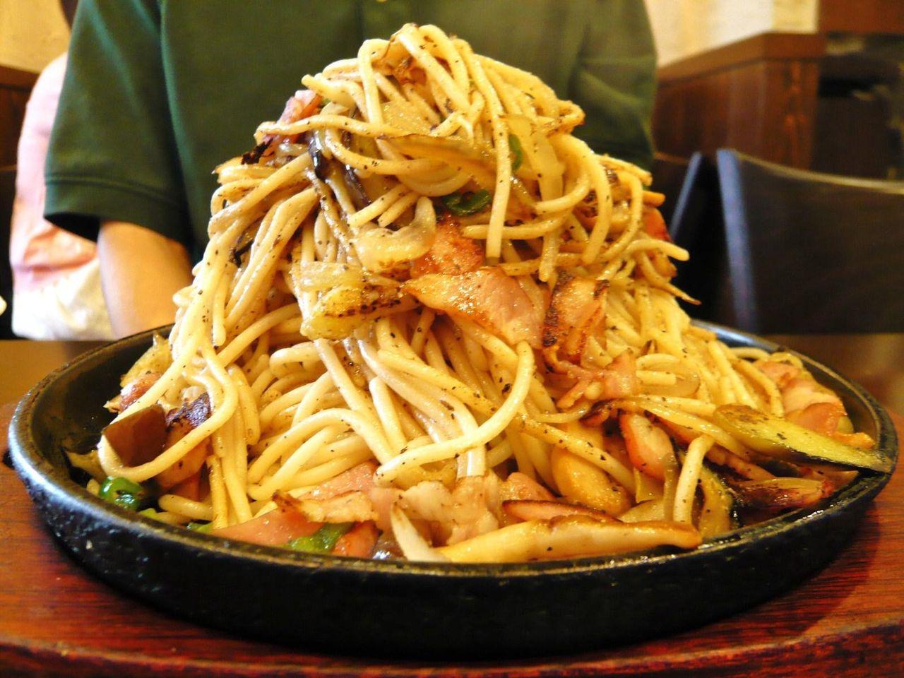 ハピネスの野菜ベーコンスパゲティ大盛780円