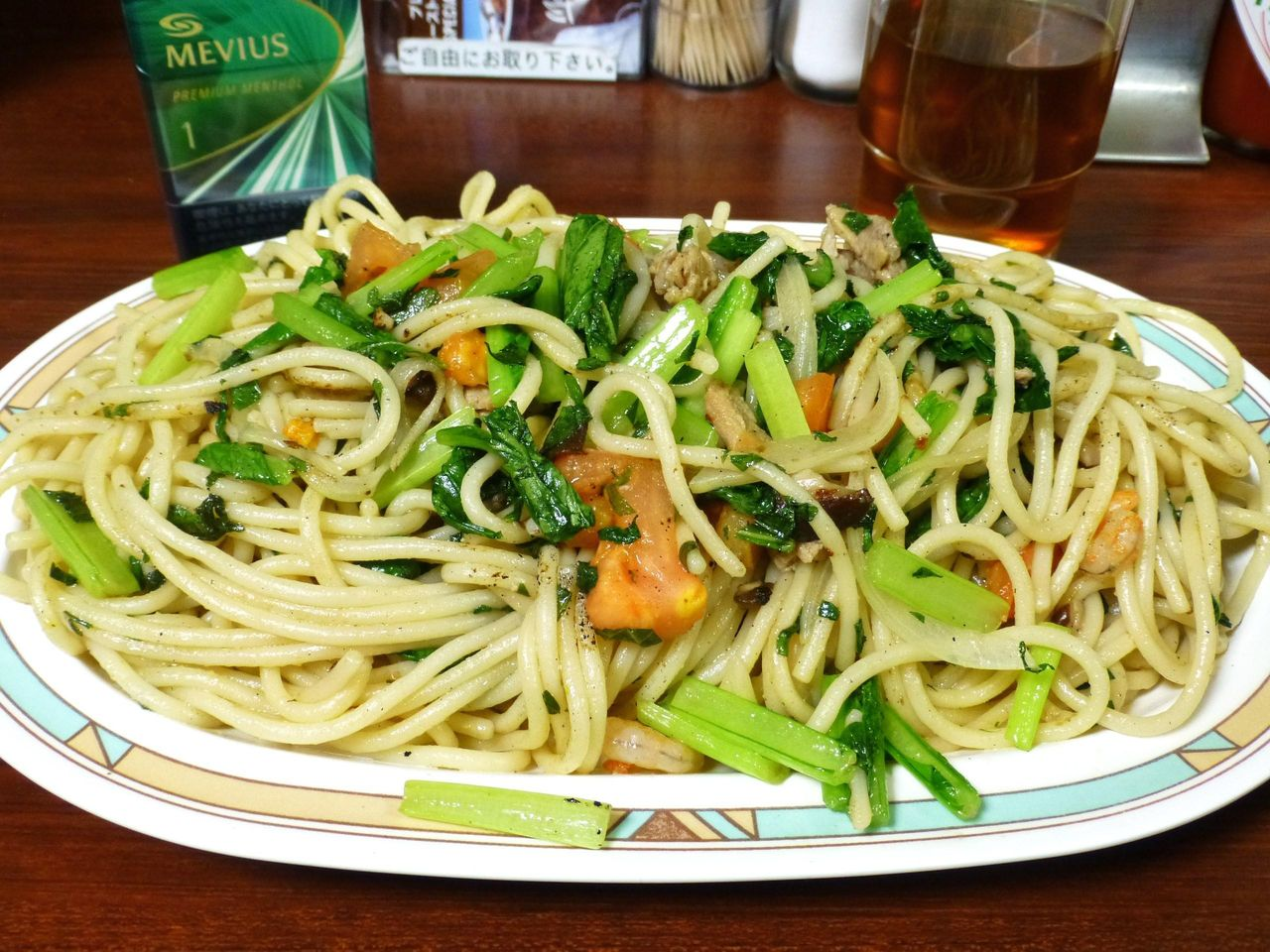 銀座の行列店「ジャポネ」で、デカ盛りスパゲッティ!