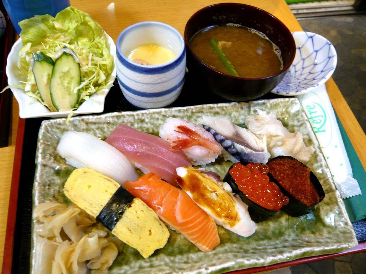 にぎり寿司を食べたい方にお勧め、Bセット1,200円