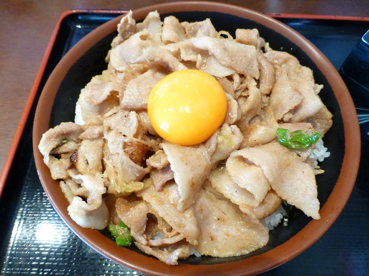 コスパは今イチ!スタミナ丼メガ盛り820円!