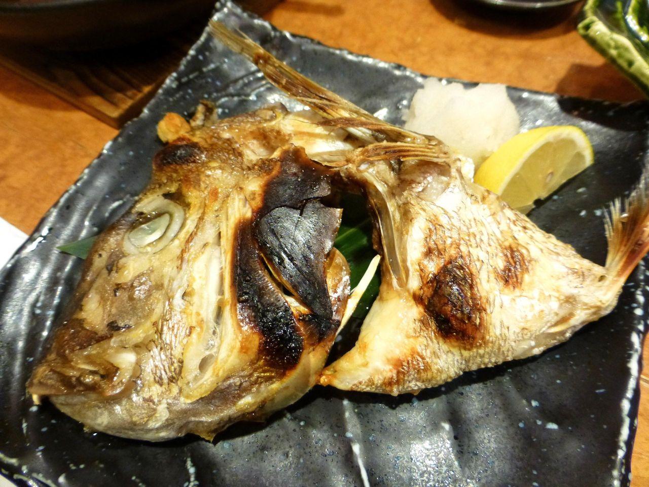 鯛カブト塩焼き580円