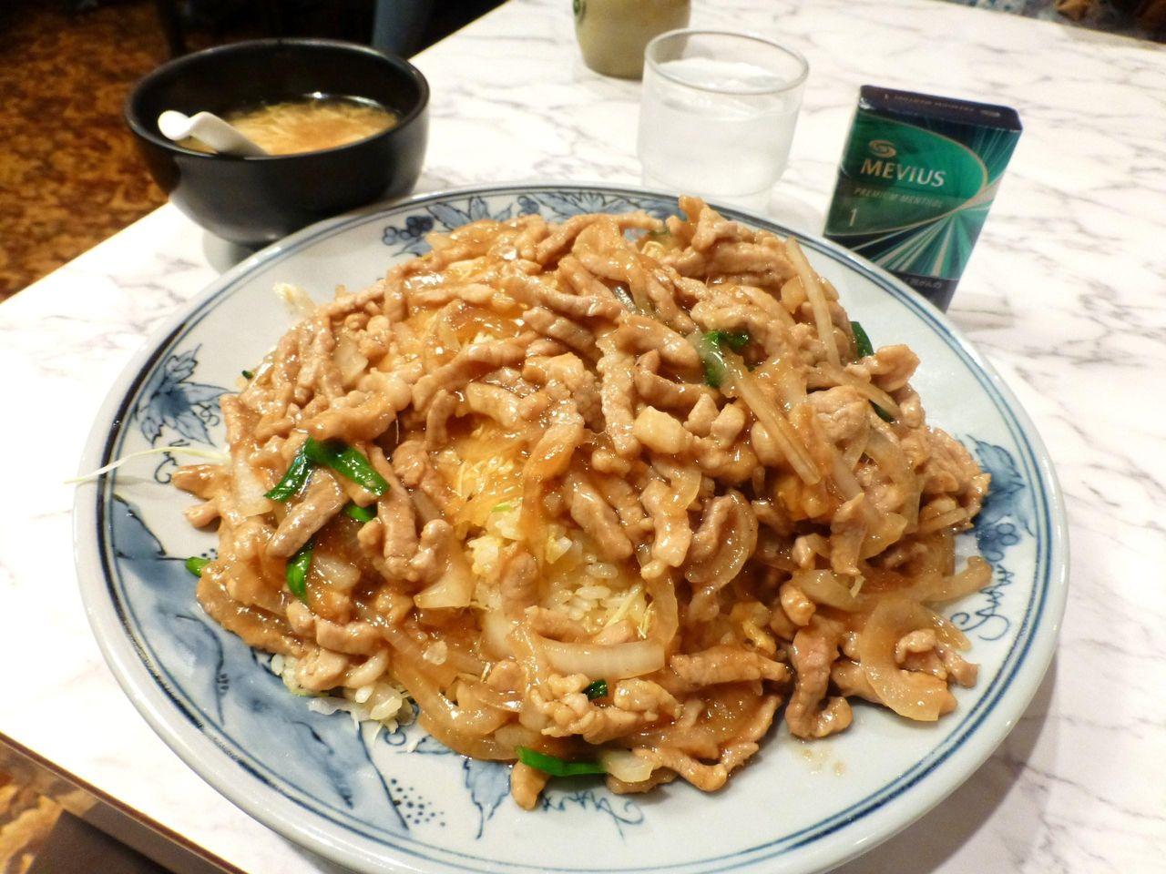 豚肉生姜焼きチャーハン(トリプル盛)1,200円