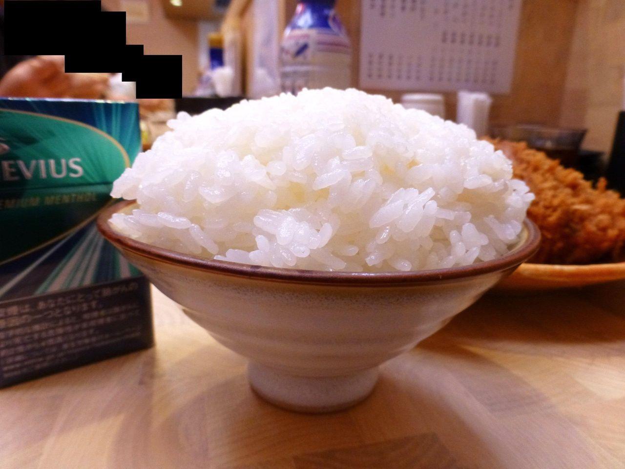 ライス大盛(無料)は、プチ日本昔話盛り!