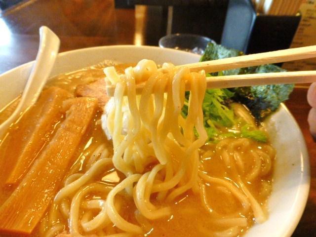 太麺は、モッチリ弾力のある食感!