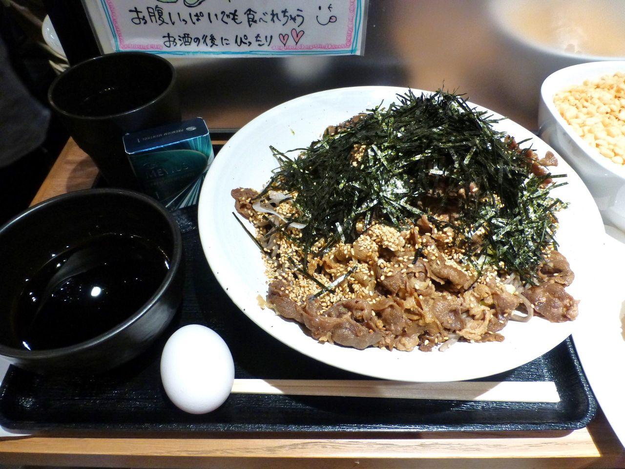俺のそばGINZA5で、俺の肉そば(大盛)700円