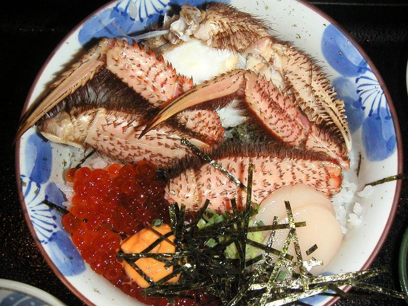 限定4食の北海丼1,200円