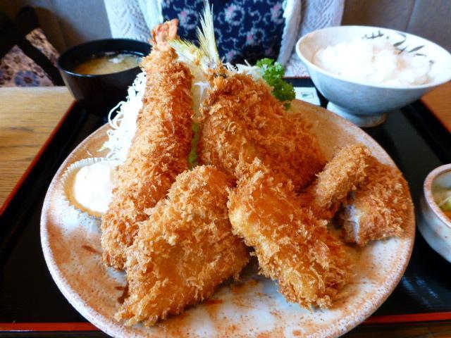 シーフードミックスフライ定食1,350円