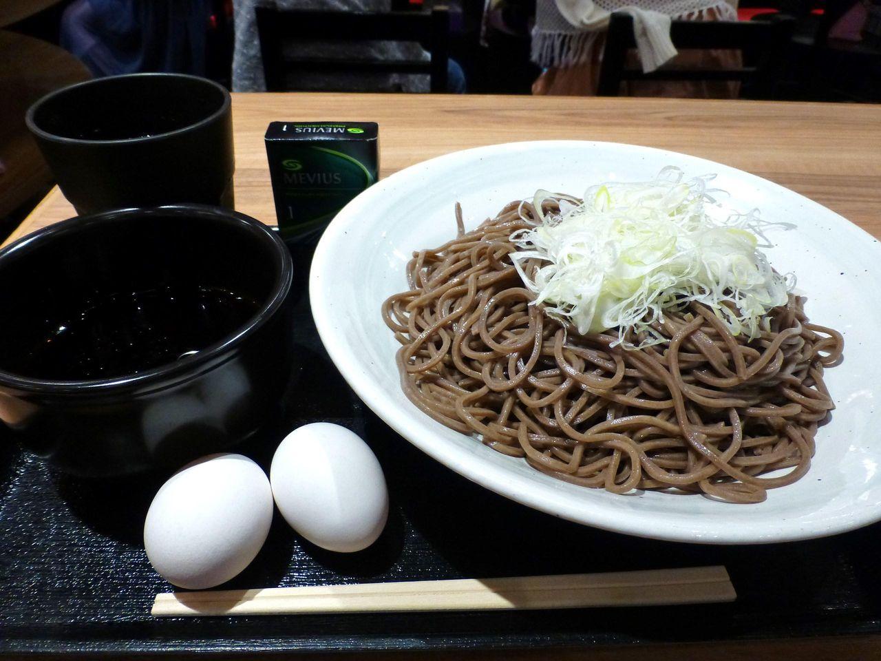 生玉子2つ無料!もり(大盛)500円!