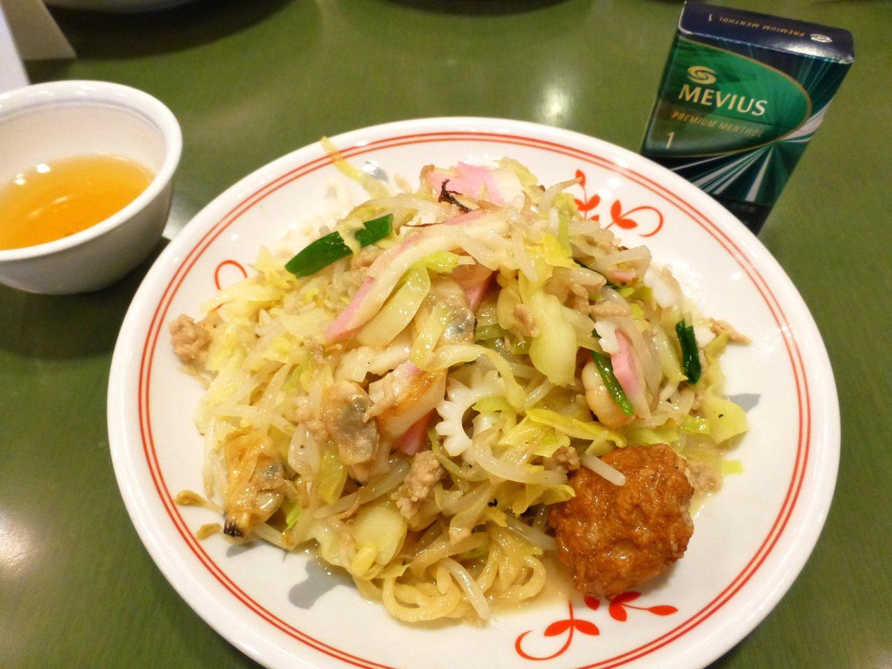 初挑戦の上皿うどん(太麺)1,080円