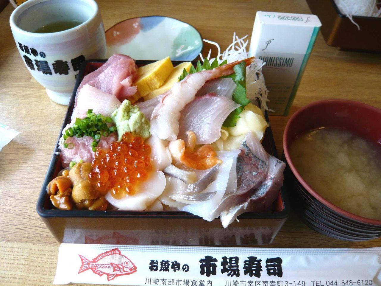 人気メニューの上海鮮丼(大盛)1,575円