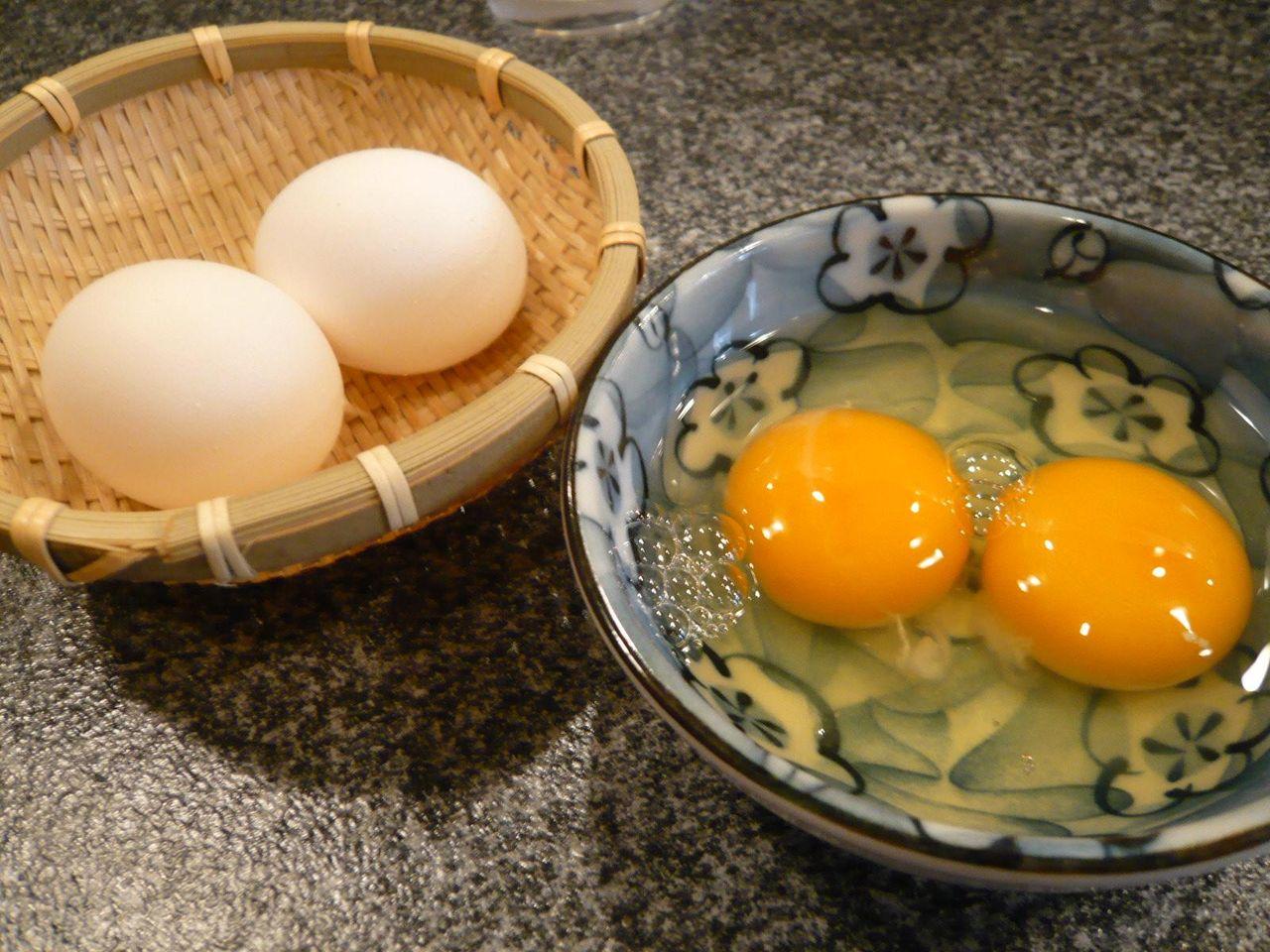 ランチは、新鮮な卵付き!
