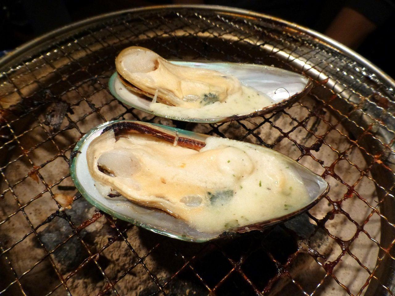 パーナ貝ガーリックバター焼き