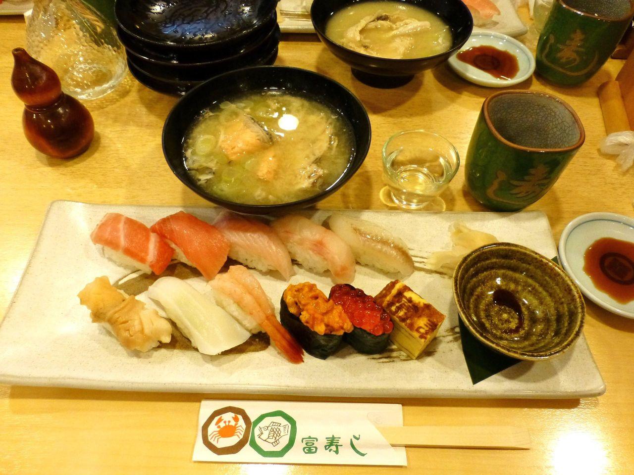 新潟の「富寿し」で、新潟名物にぎり寿司!