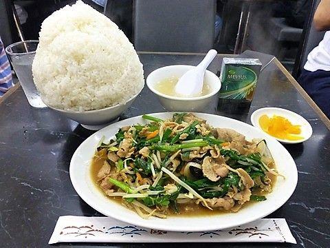 とうりゅう ニラ肉炒め定食大盛1