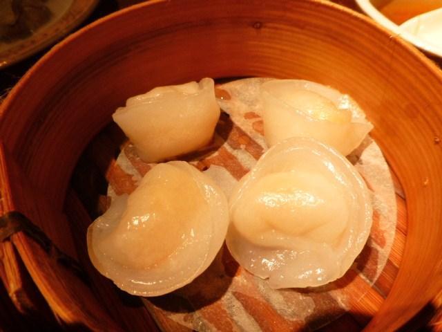 帆立貝の蒸し餃子