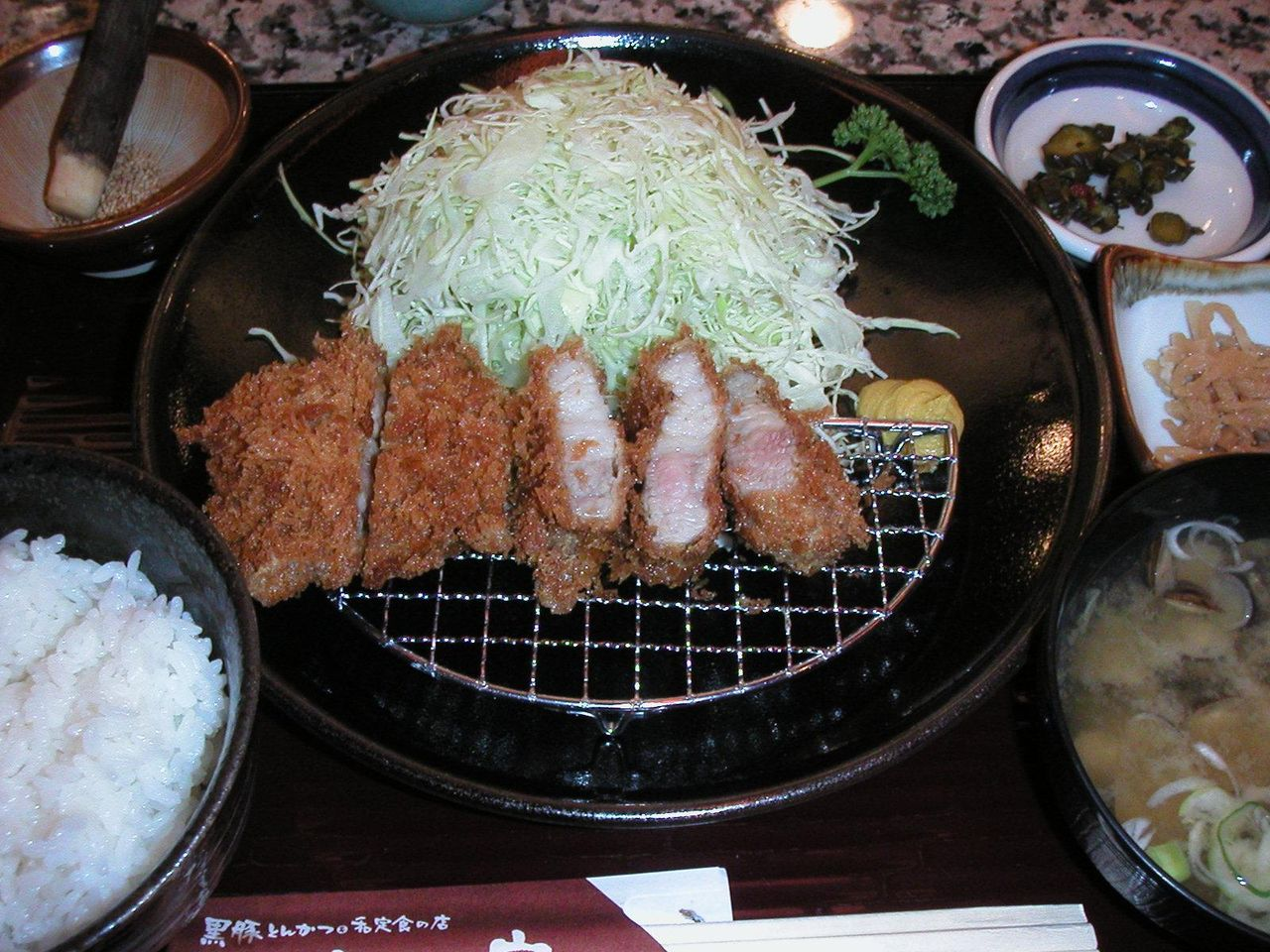 ランチ黒豚バラカツ定食950円