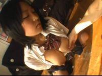発育の良い巨乳女子学生が母乳が出るほどおっぱいを揉まれる