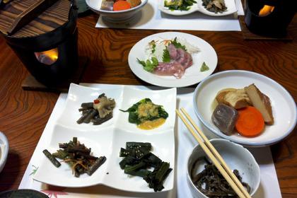 夕食1-山菜