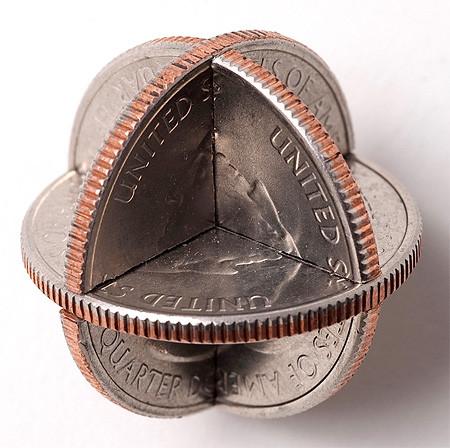 【画像】もったいないけど凄い!コインを使った面白アート!の画像(10枚目)