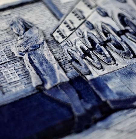 デニムで描いた風景画04