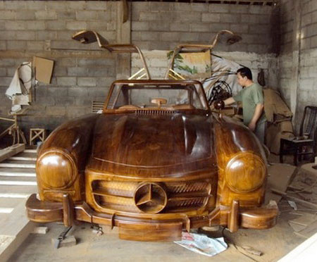 木製のメルセデス・ベンツ03
