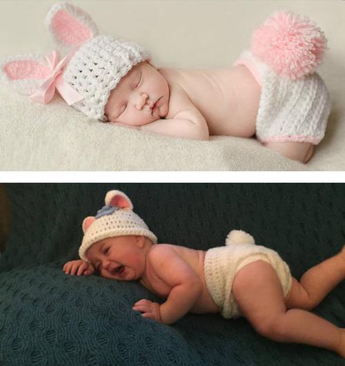赤ちゃんとの記念撮影の理想と現実の画像(25枚目)