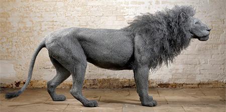 金網で作られた動物の画像(1枚目)