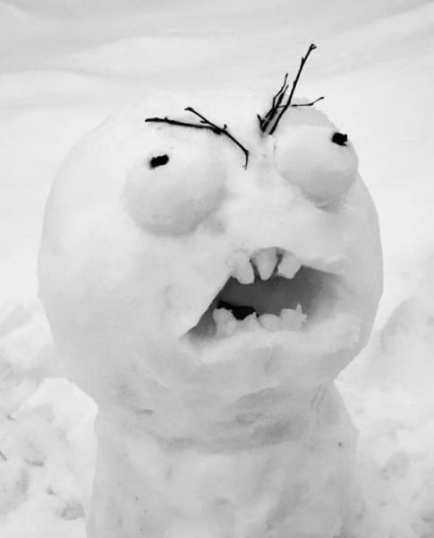 面白い雪だるまの画像(6枚目)