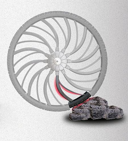 自転車のホイール一体型のサス03