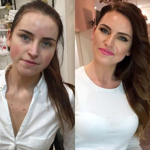 女性の化粧前、化粧後の画像の数々_15