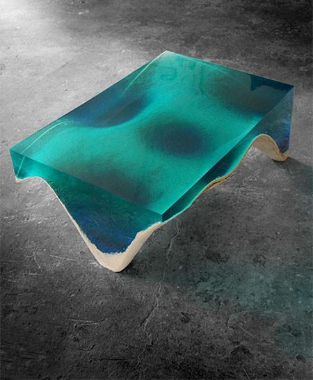 【画像】まるで深海そのもの!深い海の底のようなテーブルが凄い!!の画像(5枚目)
